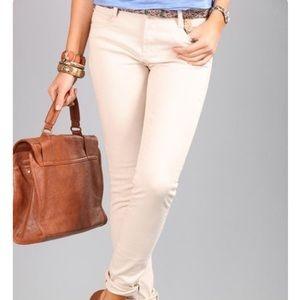 Cotton On Cream Mid Rise Skinny Boyfriend Jeans